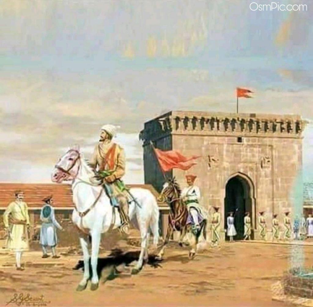 shivaji maharaj photo on horse