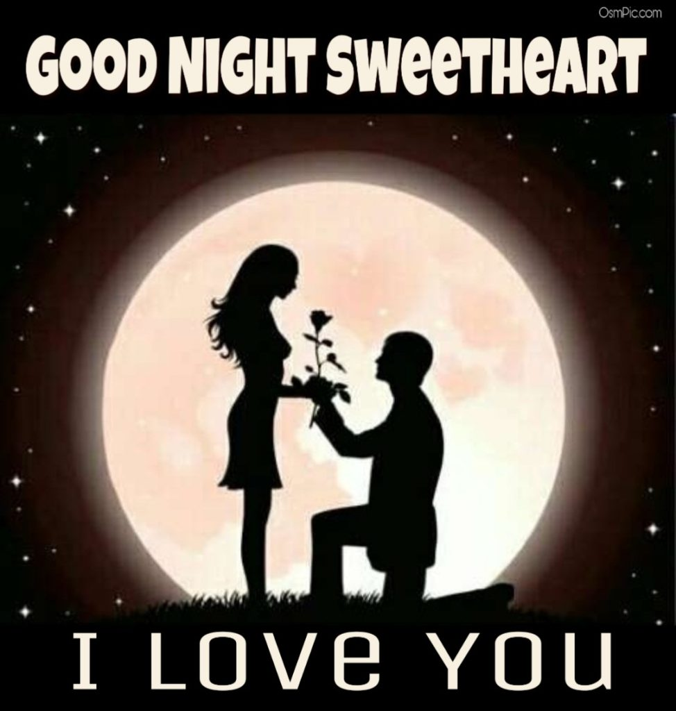 goodnight sweetheart images for her with i  love  you