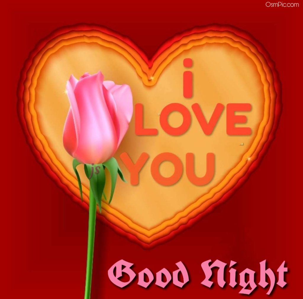 Lovely good night image with i love you