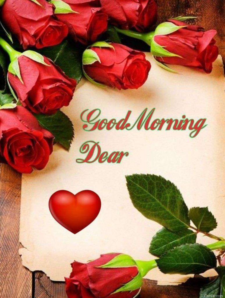 Rose Flowers Good Morning Dear Wallpaper