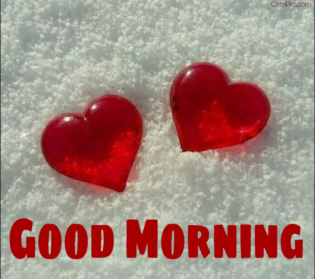 Good morning images with love shape heart shaped
