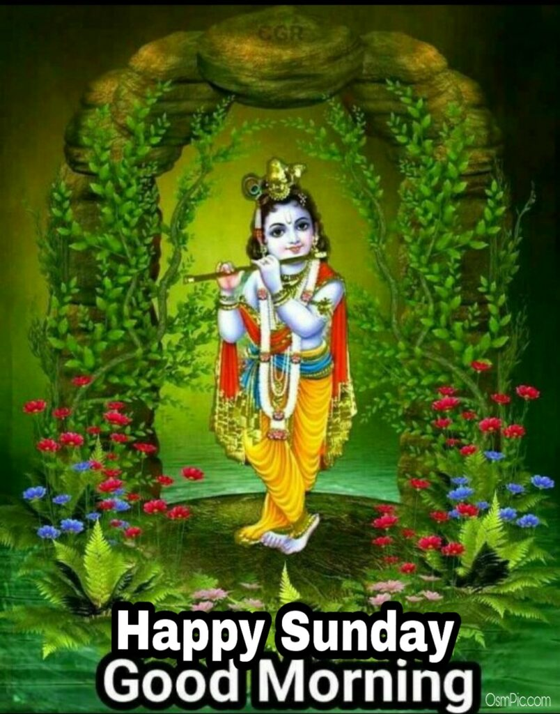 good morning happy sunday krishna image