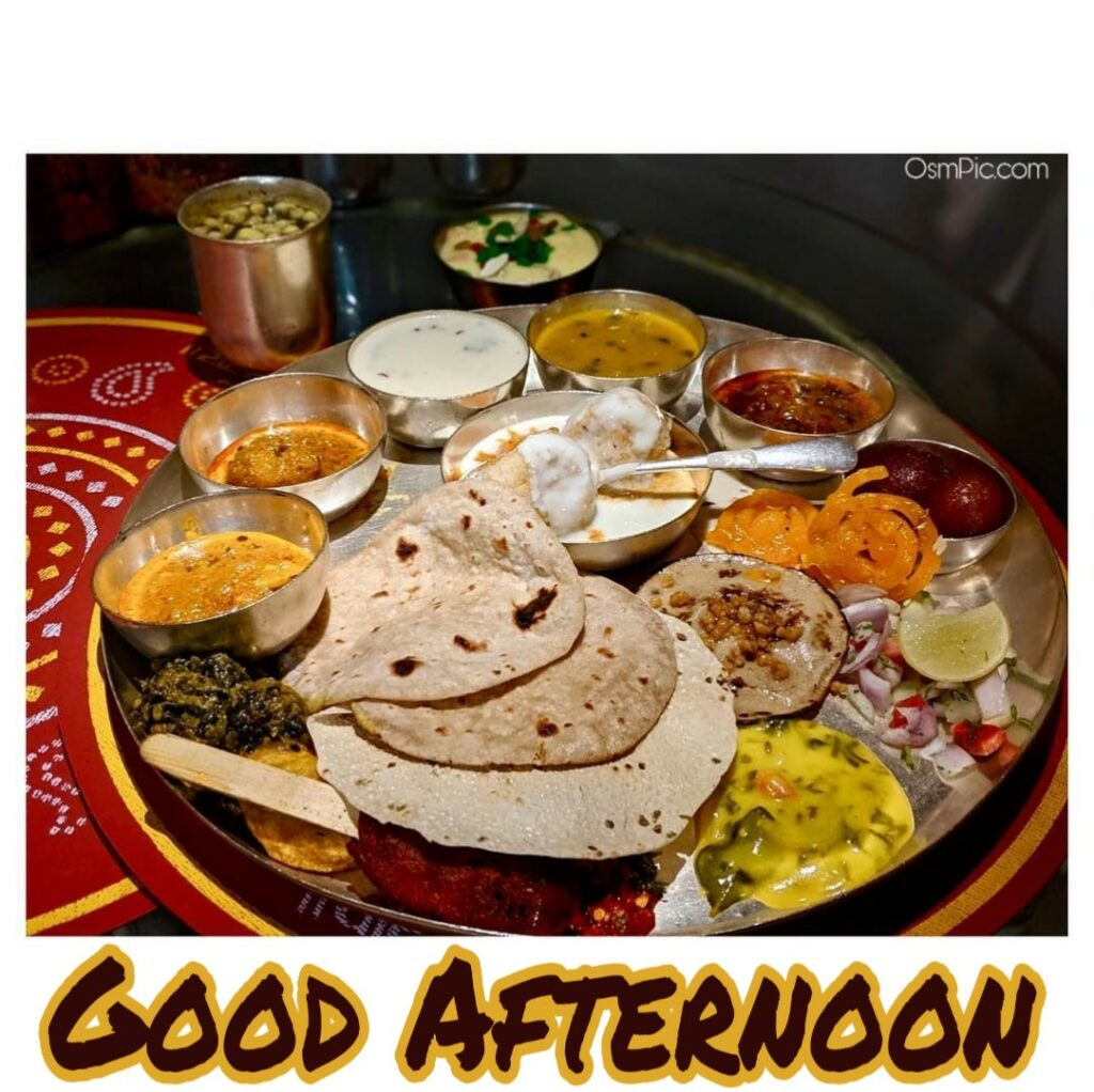Best ever image of Indian lunch for good Afternoon