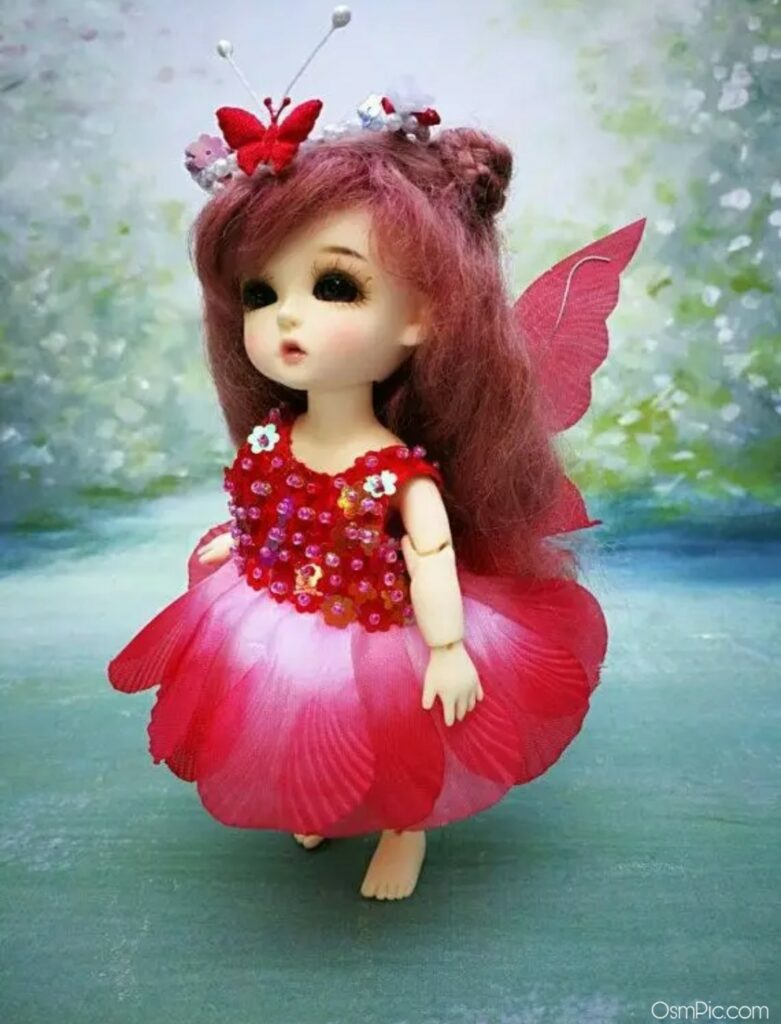 Red dress Barbie Doll pic for Whatsapp dp