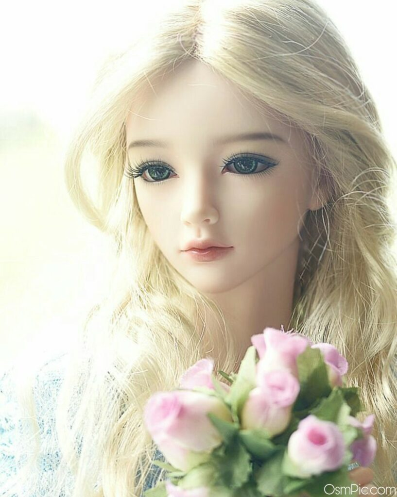 Beautiful barbie doll images with flowers pink roses
