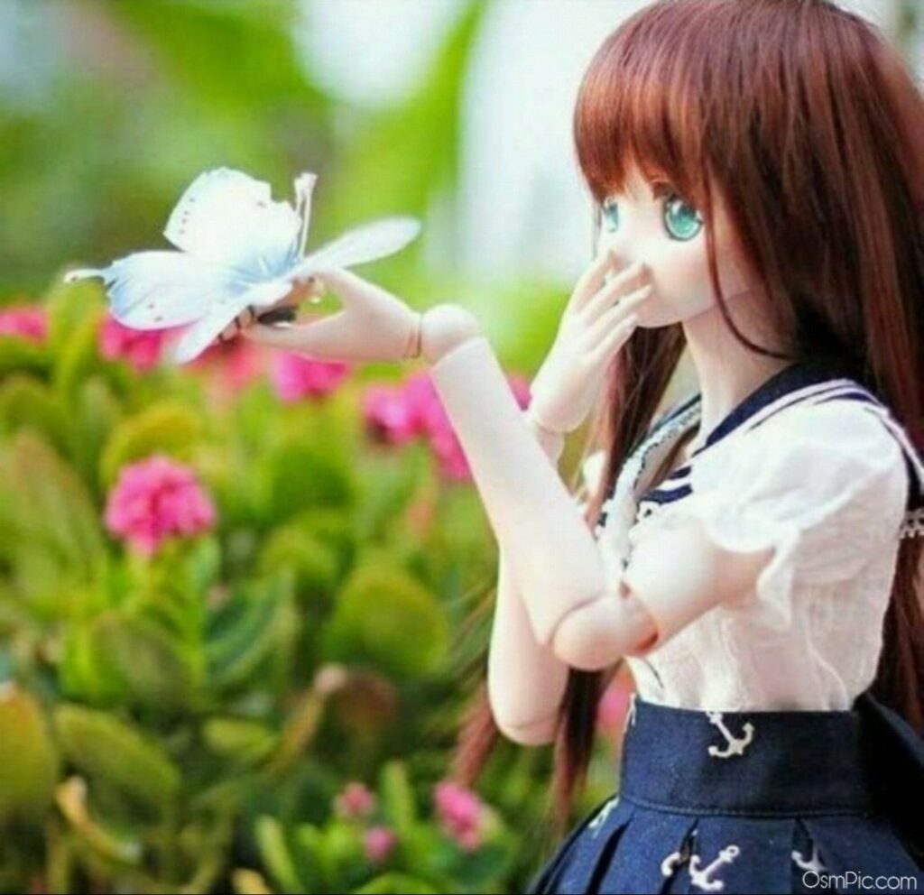 Flowers Barbie Doll Pic