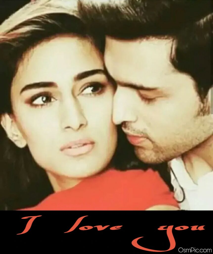 Couple image with I love you message