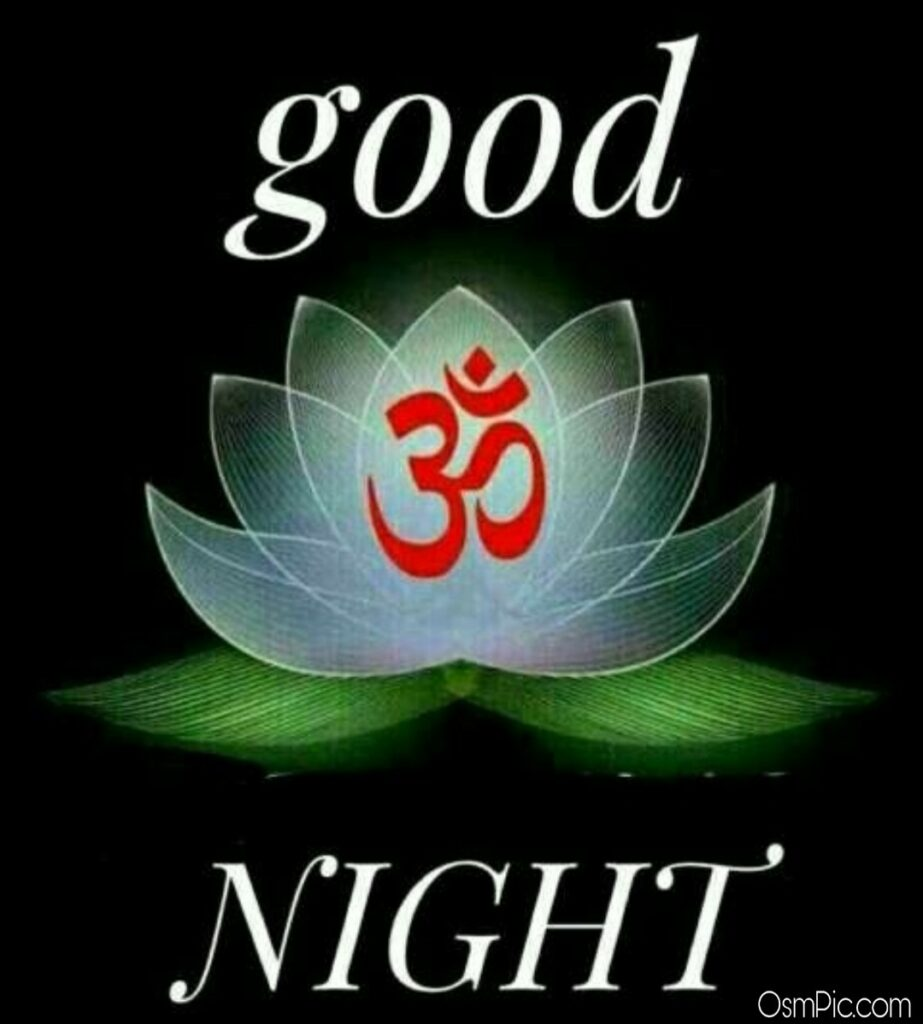 Om good Night image in hindi with Om