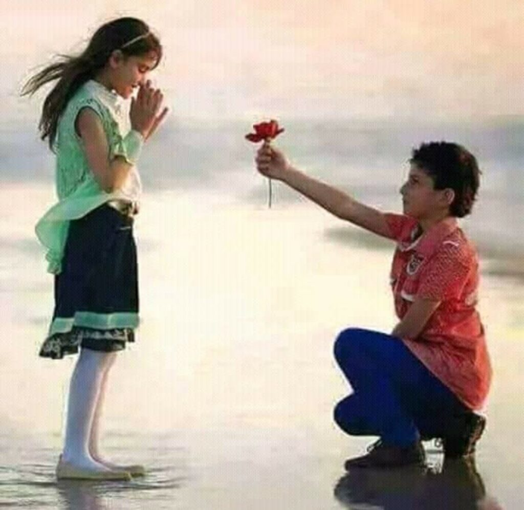 Boy proposing girlfriend image Download