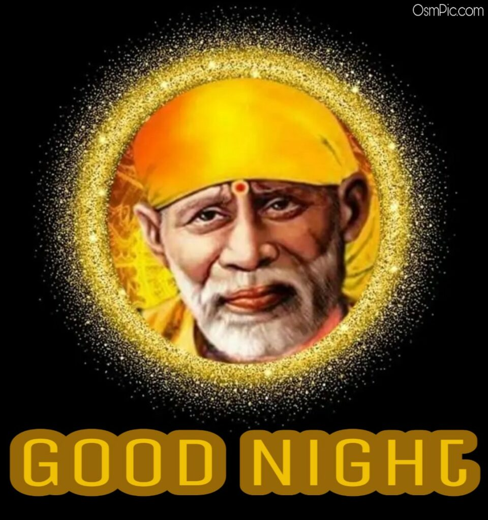 Sai baba good Night images for Whatsapp Free Download