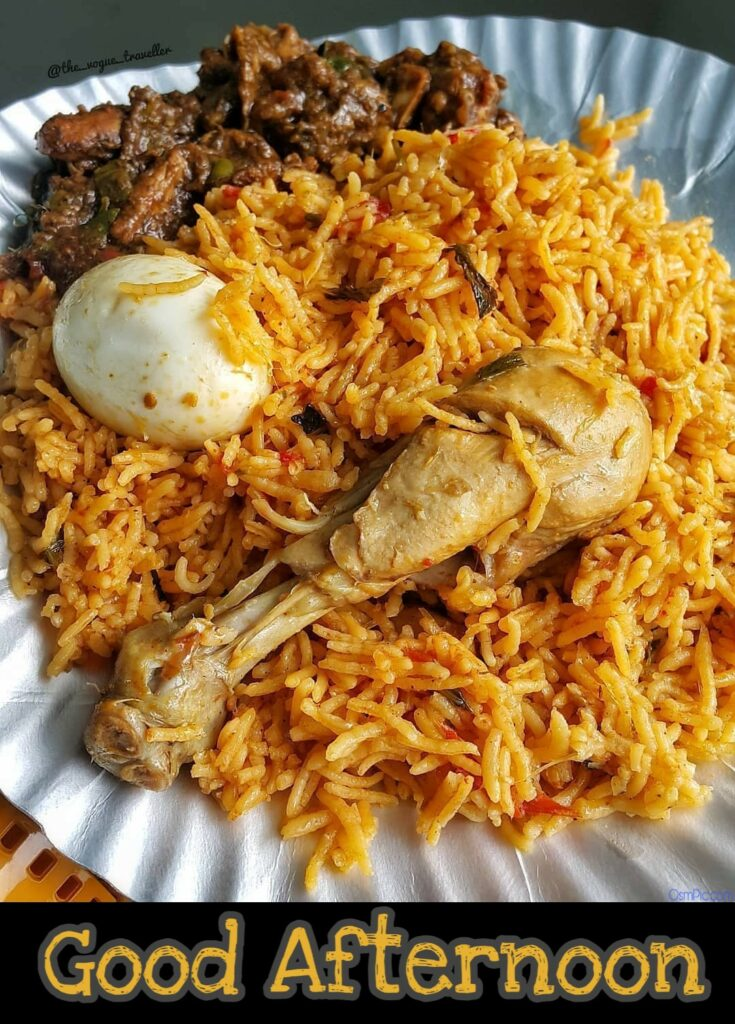 good afternoon images with biryani
