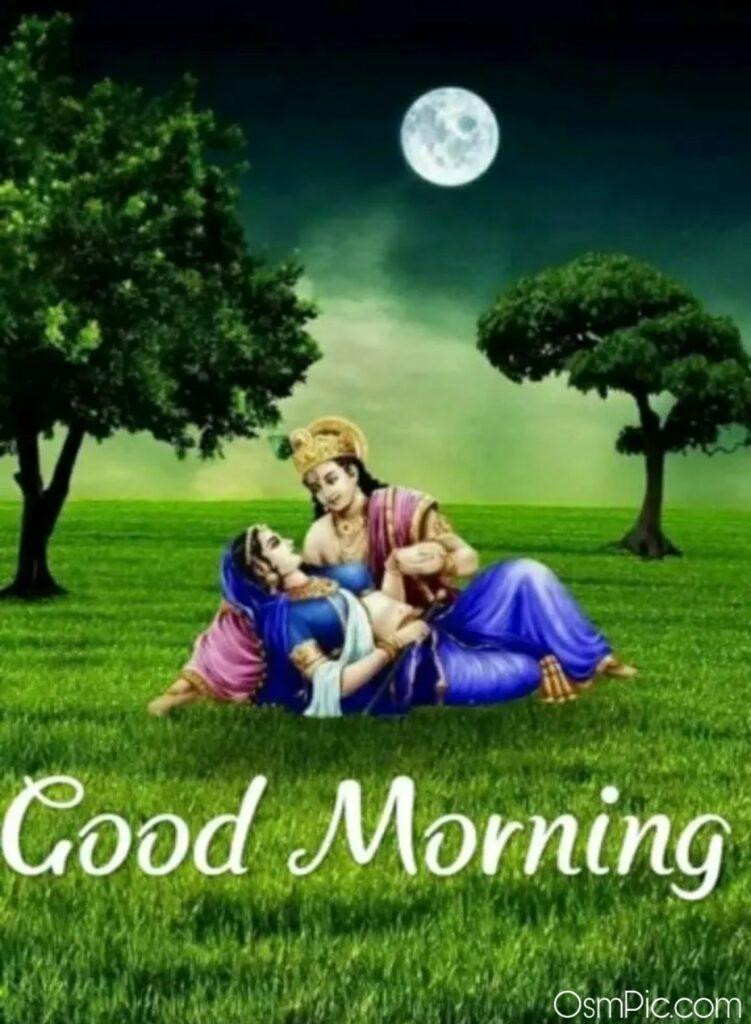 radha krishna love good morning image Download