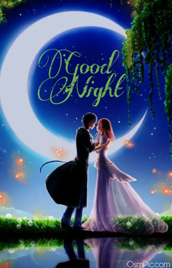 Best good night image with love couple