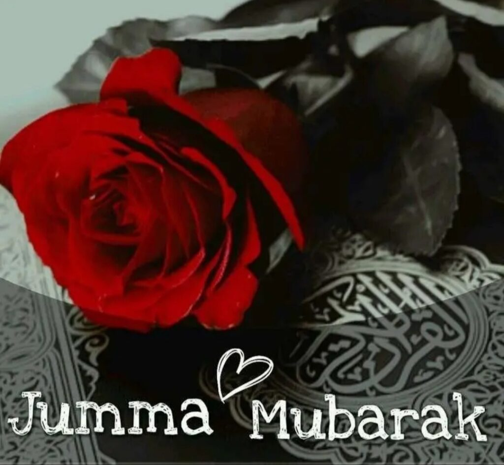 Jumma Mubarak rose image for girlfriend biwi