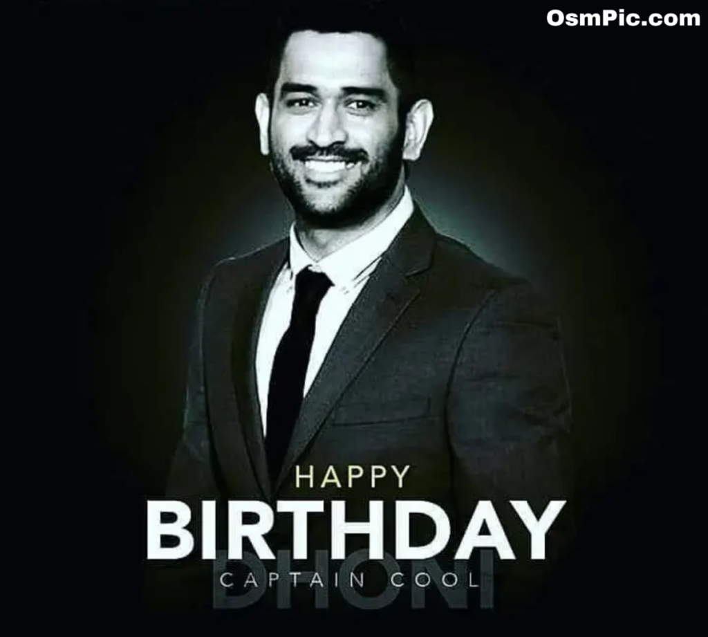Wish you happy birthday Dhoni