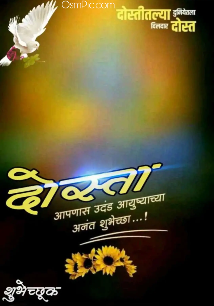 friend birthday banner in marathi