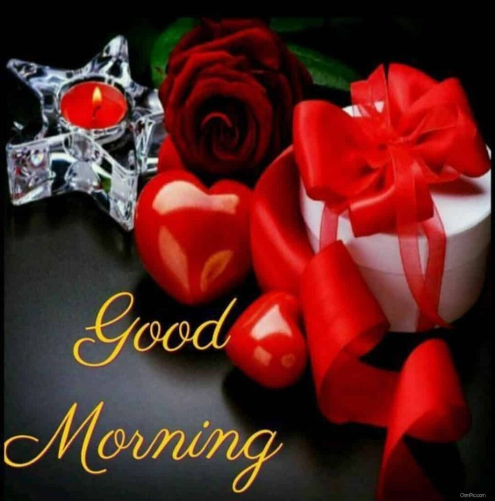 Good morning wishes with red roses
