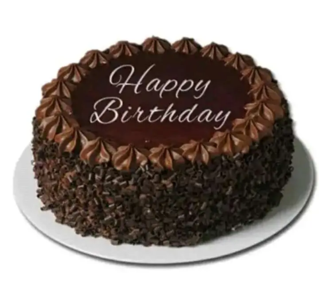 Chocolate birthday cake photo download