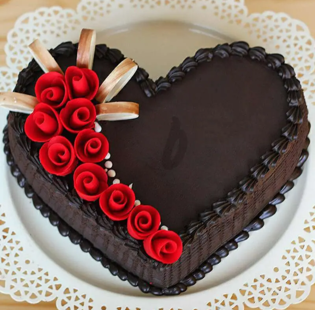 heart shape cake for husband
