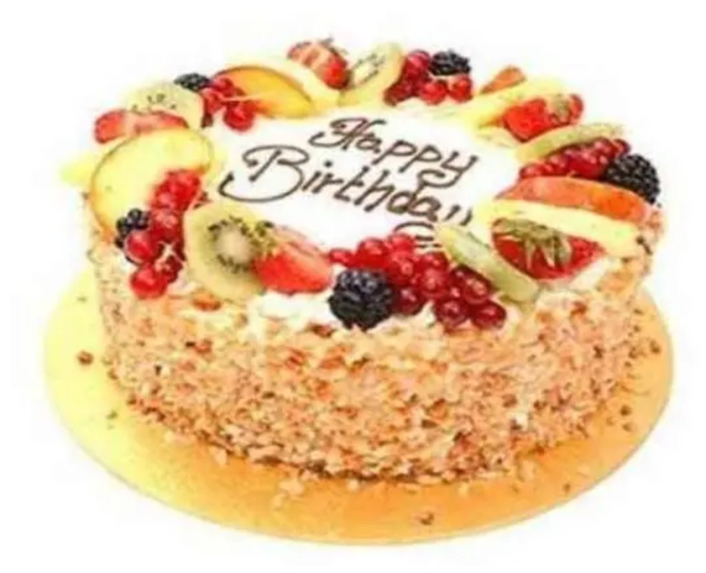 happy birthday fruit cake image