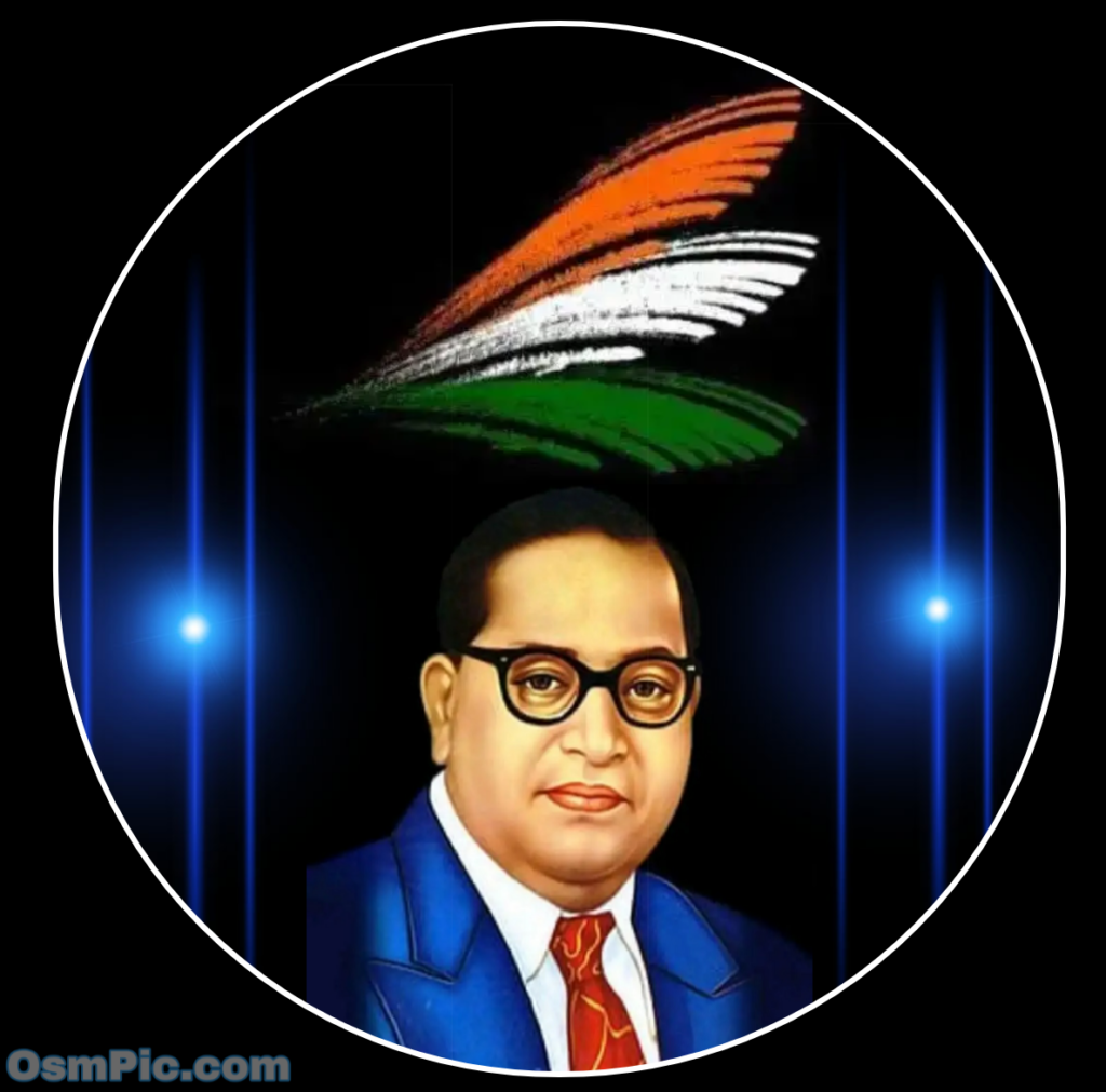 babasaheb ambedkar with indian flag
