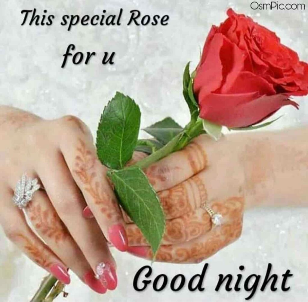 This special good night rose for my love