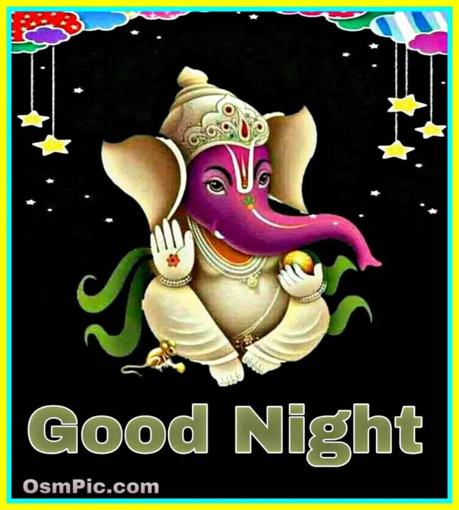 Good Night Ganpati Bappa Images Pictures Photos