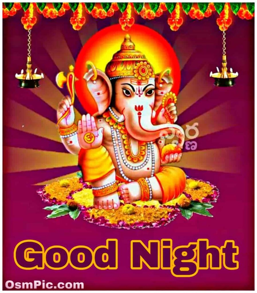 Good night Ganpati bappa photo