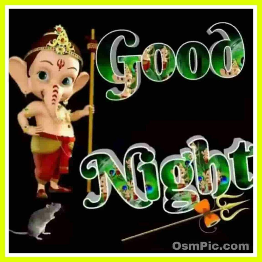 Good night Ganesh ji pic for Ganesh chaturthi