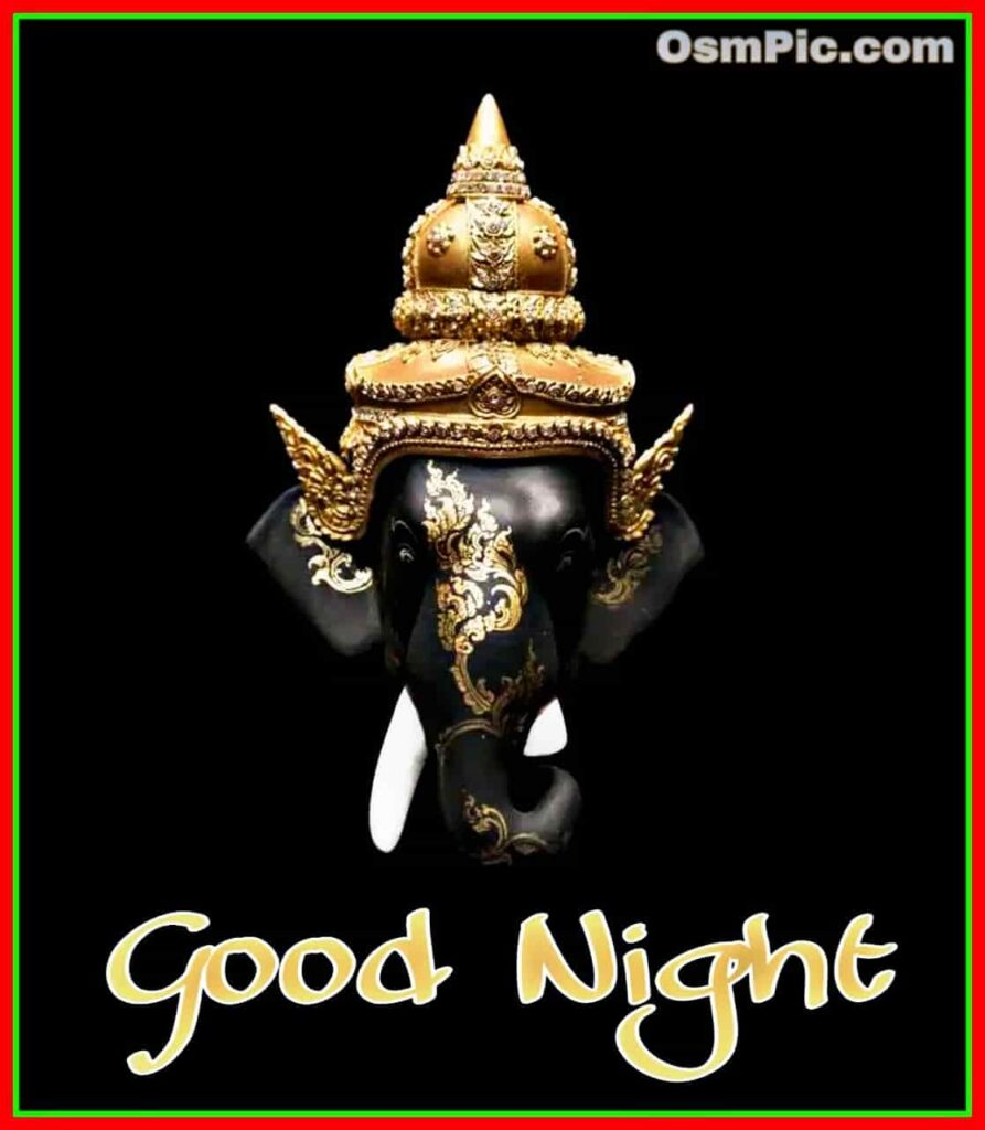 Good night ganpati god pic download