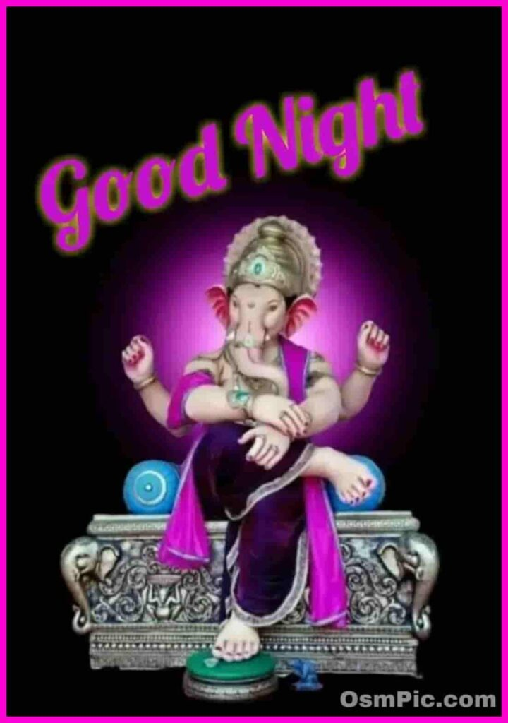 Good night ganesh ji photo download